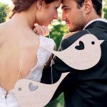 Lovebirds themed wedding inspiration for rustic outdoor ceremony