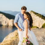 Breathtaking Dreamy Destination Summer Wedding in Grecee