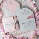 The most romantic Pink & Grey stationery ideas for your Vintage Wedding