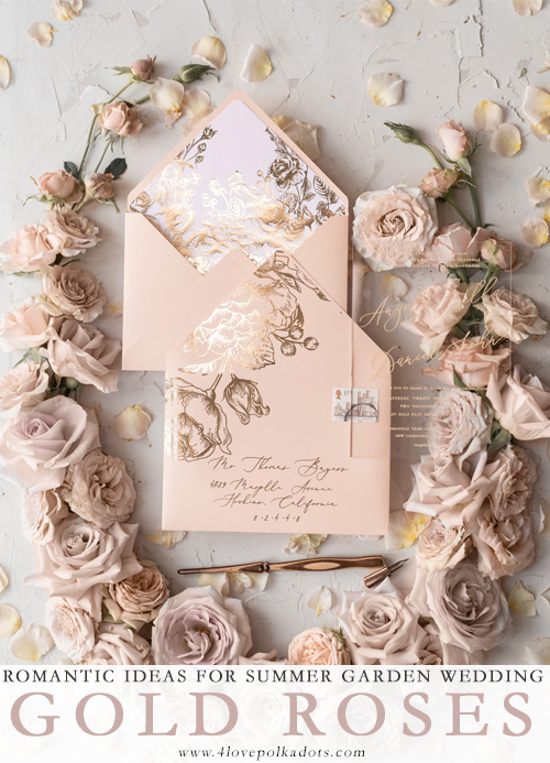 The Most Romantic Elegant Wedding Invitations Ideas With Touch Of Gold Blog Margoandbees