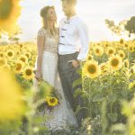 Summertime Sunflowers Wedding Ideas for outdoor ceremony