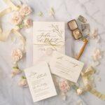 New minimalist wedding invites