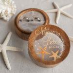 Beach wedding ring  bearers, Handmade wedding ring box • Real Starfish ring bearer box • wood luxury ring box