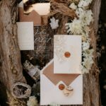 Boho Luxe Wedding suite, gold and beige invitations, wedding inspiration suite