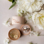 engraved wedding ring box  • personalised rustic ring box • real flowers in epoxy luxury ring box