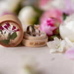 Handmade wedding ring box • Real Flowers ring bearer box • wood luxury ring box