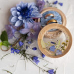 wooden wedding ring box  • rustic ring bearer box • real flowers in resin luxury ring box