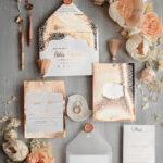 Elegant wedding invitation Suite, Luxury Arabic Gold Wedding Cards, Pocket Wedding Invites with Gold Tassel