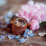 rustic glam wedding ring box  • handmade ring bearer box • velvet luxury ring box