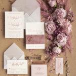 Elegant Velvet Wedding Invitations Blush Pink Weding Invites