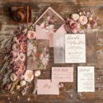 Romantic Vintage Wedding invitations, Vellum Wrapping and Wax Seal Wedding Invite, Elegant Blush Pink Wedding Cards