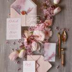 Stunning wedding invitations glamorous stationery marble blush transparent invite