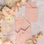 Bespoke wedding invitations, Gold Vellum Wedding Invitation Suite, Pink We Do Wedding Stationery